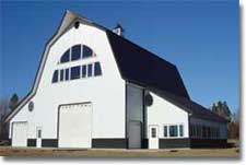 Gambrel Roof Design - Steel Building