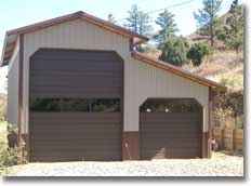 Rv pole barn garage shed kits hansen pole buildings for Motorhome garage kits
