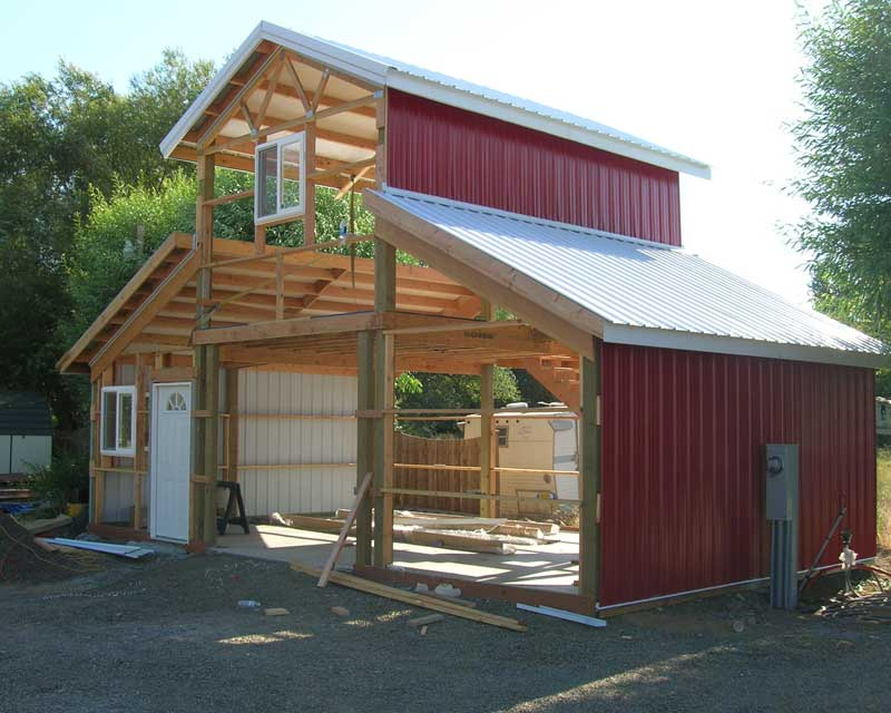 Popular pole barn wall construction for Build your own pole barn home