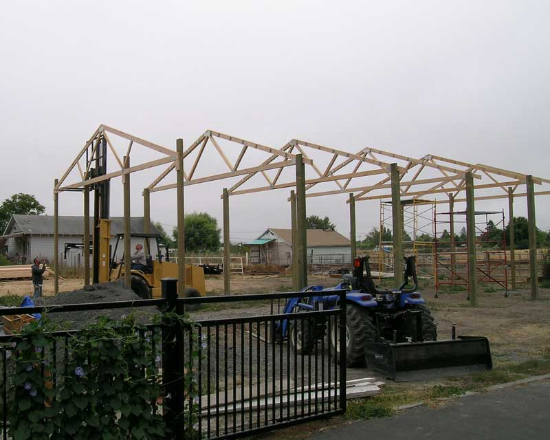 Steel truss buildings realizing the flexibility of a for Pre manufactured roof trusses