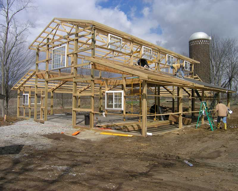 Pole Barn Construction : Pole barn construction hansen buildings