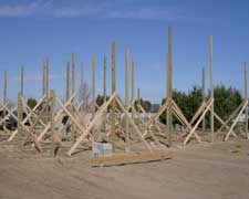 Setting Pole Building Posts