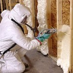 Spray Foam Insulation with Dupont Tyvek House Wrap