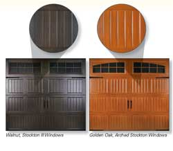 Wood Grain Steel Overhead Doors