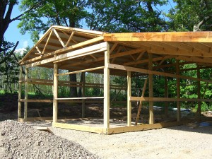 Adding a Lean-to on a Pole Barn Part II