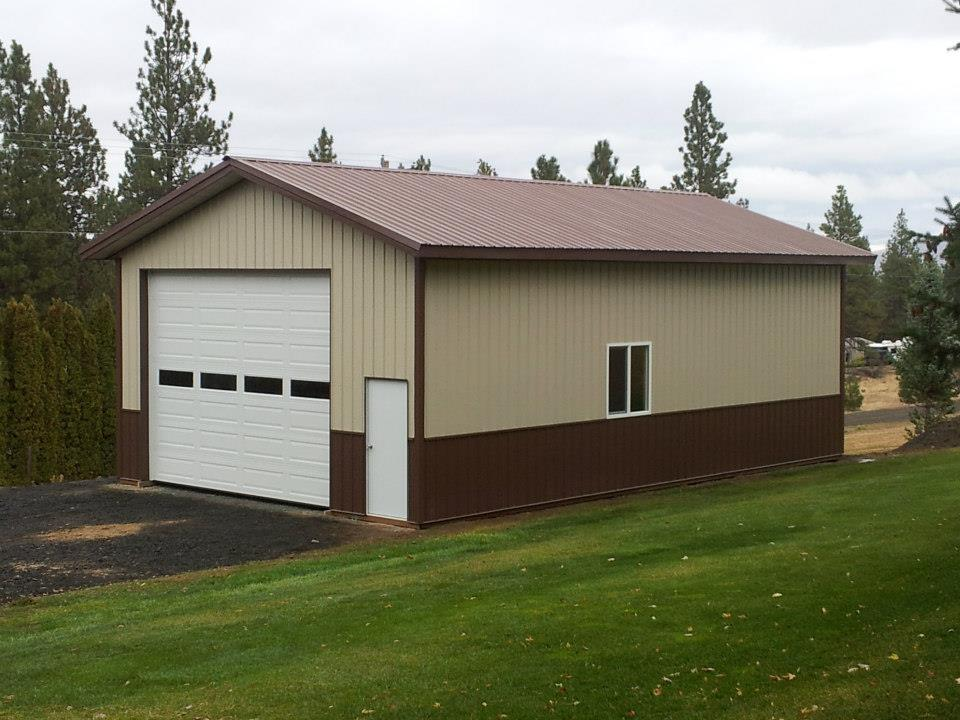 A new pole building what is the price per square foot for Pole garage pictures