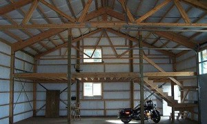Loft attic space archives hansen buildings for How to build a mezzanine floor in a garage