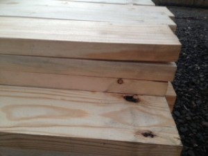 Tops of Glulam Posts