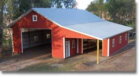 Farm Building Kits Steel Metal Hansen Pole Buildings
