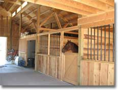 Horse Barn - Interior View