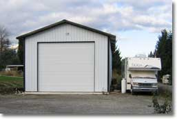 Custom rv motorhome pole barn garages hansen pole buildings for Pole barn for rv storage