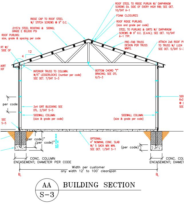 Engineer sealed building plans archives hansen buildings for Pole frame house plans