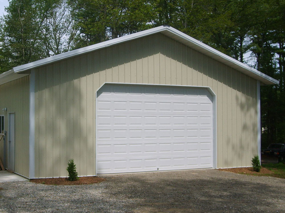 93 wood pole barn kits steel frame pole barns full for Large garage kits