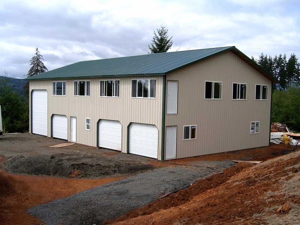 Post frame home hansen buildings for Pole frame house kits
