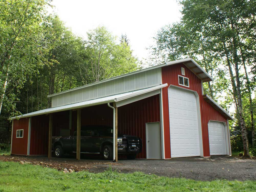 Single slope barns joy studio design gallery best design for Rv barn plans