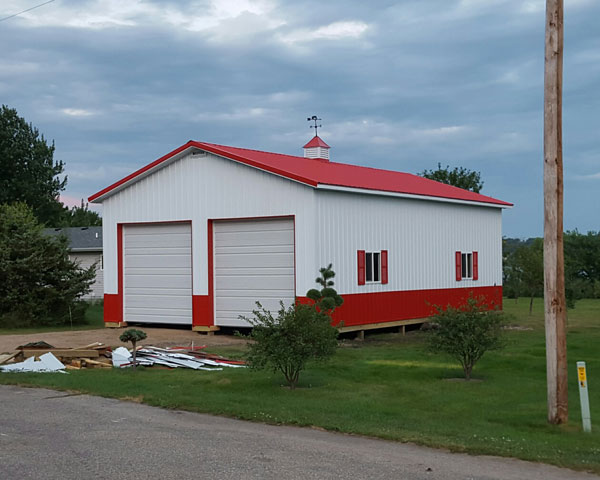 26x40x14 pole barn hansen buildings
