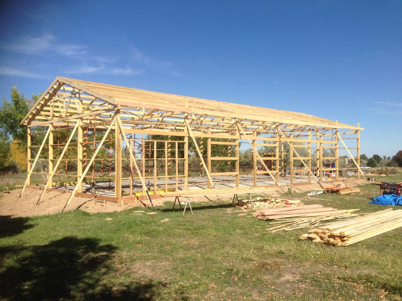 Pole building moratorium for Pole barn roof pitch