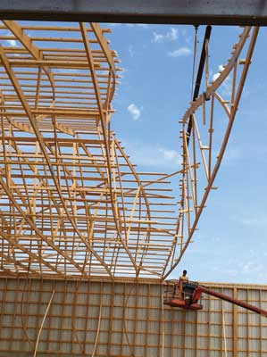 Long Span Truss Installation Strategy