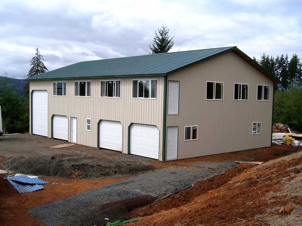 Two story pole buildings hansen buildings for 2 story metal buildings with living quarters
