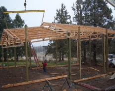 80 Foot Span Wood Trusses