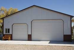 Custom pole barn garages kits hansen pole buildings for Cheap garage packages