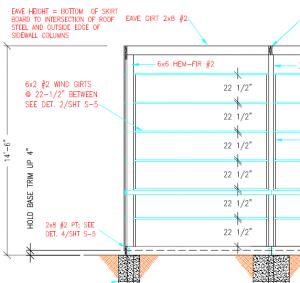 Brick Ledge on a Pole Building
