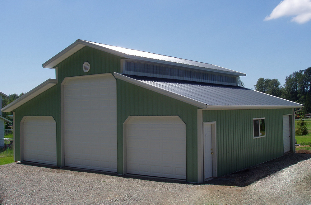 pole building garage ideas - Monitor Pole Barn Building Plans