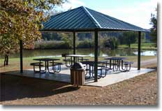 Park Shelter with hipped roof