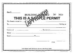 Building Permits; Stick 'Em Up