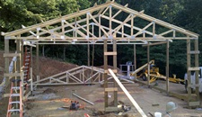 Day Two at Steve's: Setting Trusses