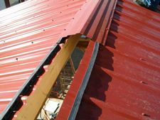 Steel Ridge Cap to Roofing Overlap