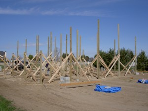 Setting Pole Barn Posts