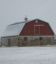 Barn with Rock Walls