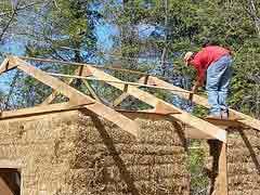 straw pole barn