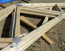 Proper Storage of Trusses at the Job Site