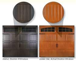 Wood Grain Overhead Doors