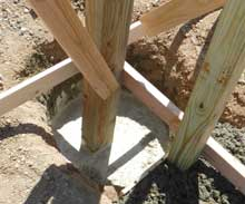 High Density Foam for Setting Posts