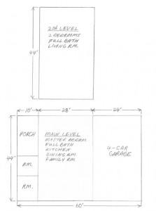 hand drawn plan