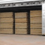 Storing Lumber for a New Pole Building