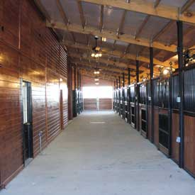 horse barn aisle