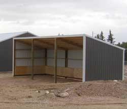 Single Slope Pole Barn