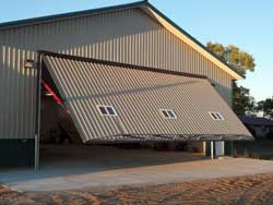 How Pole Barns Accept Hangar Doors