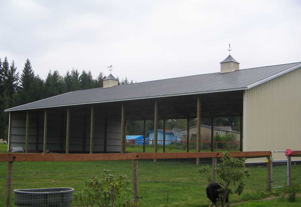 Manure Storage Pole Barns