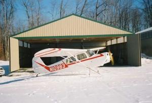 Bi-parting Doors on Airplane Hangars