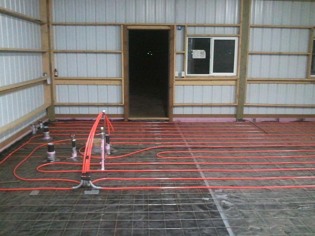 Barndominium Flooring Over Radiant Heat