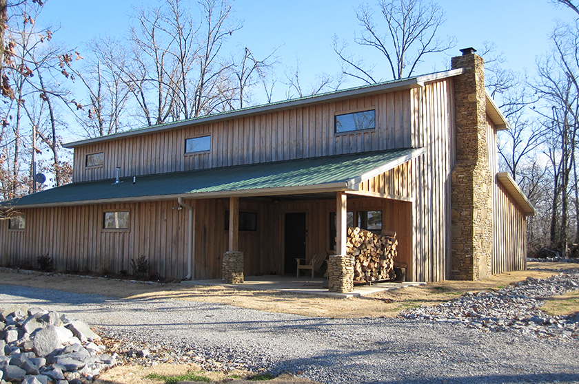 Prefab pole barn cabin