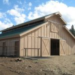 Affordable horse barn