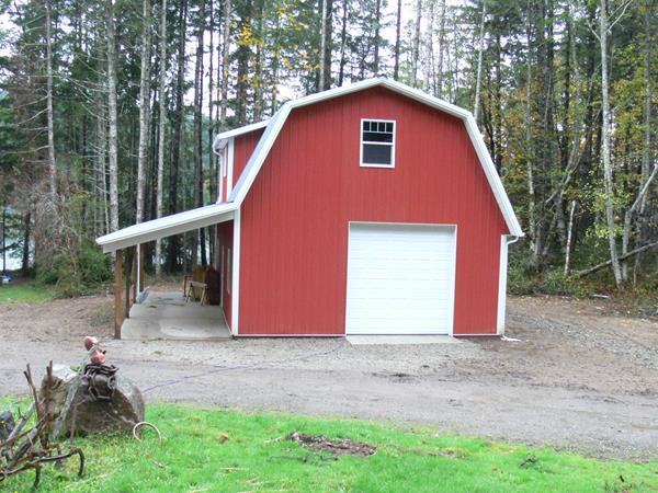A Gambrel Pole Barn, Ceiling Heights, and RV Storage Solutions