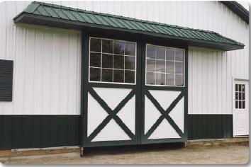 Cross Bucks on Sliding Barn Doors