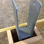Post Brackets, Cross Bracing, and Pressure Treated Wood